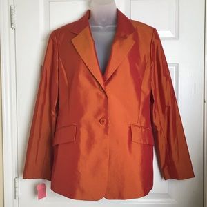 LAFAYETTE orange pink SILK blazer ✨GORGEOUS✨ NWT✨